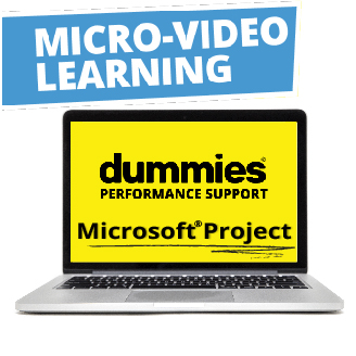 ms project for dummies In this introduction to microsoft project 2016: getting started class, students will  spend time getting comfortable with the project 2016 user.